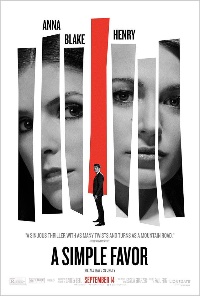 LA's Blue Note-inspired one-sheet for A Simple Favor