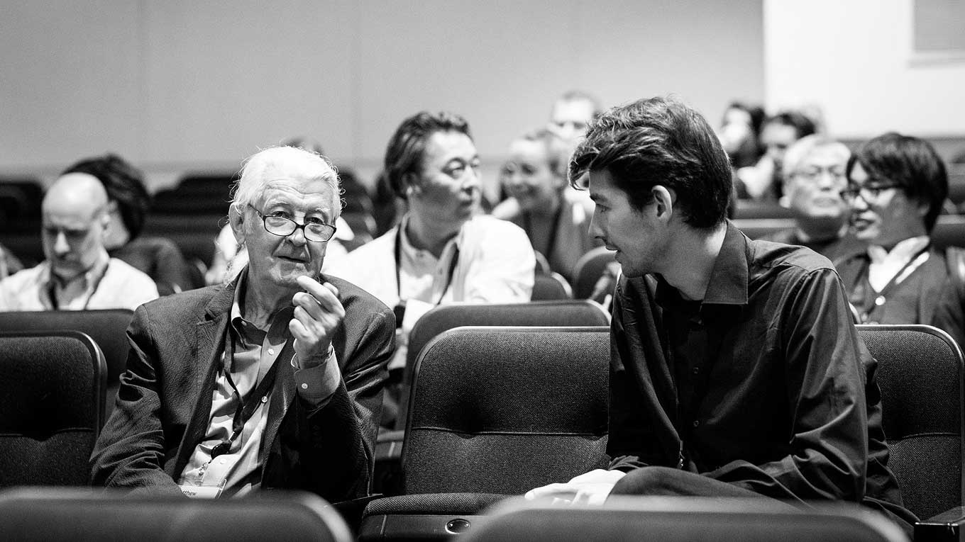 Matthew Carter and Ferdinand Ulrich at ATypI Montreal 2017