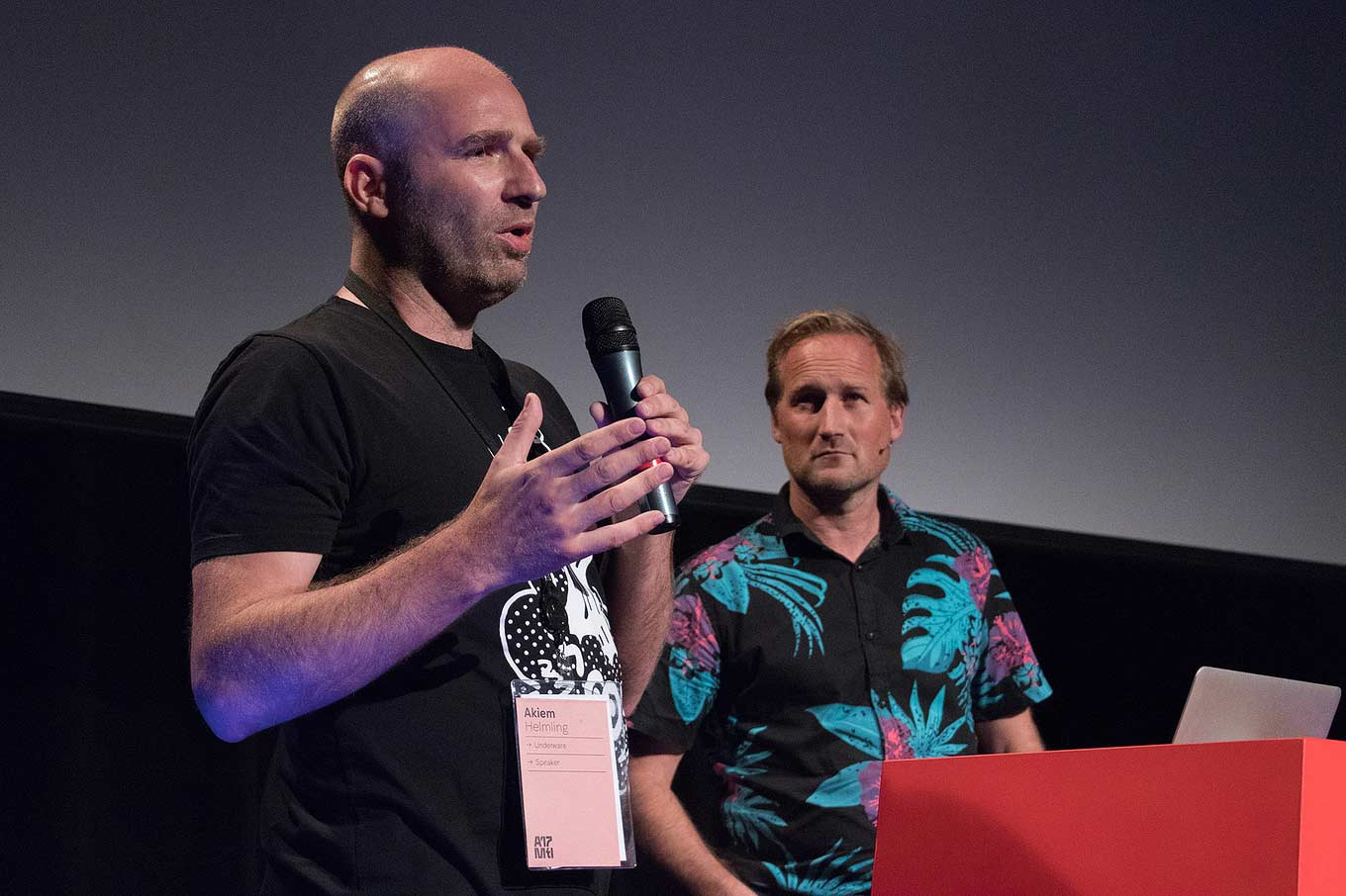 Bas Jacobs and Akiem Helmling presenting at ATypI 2017 Montreal.
