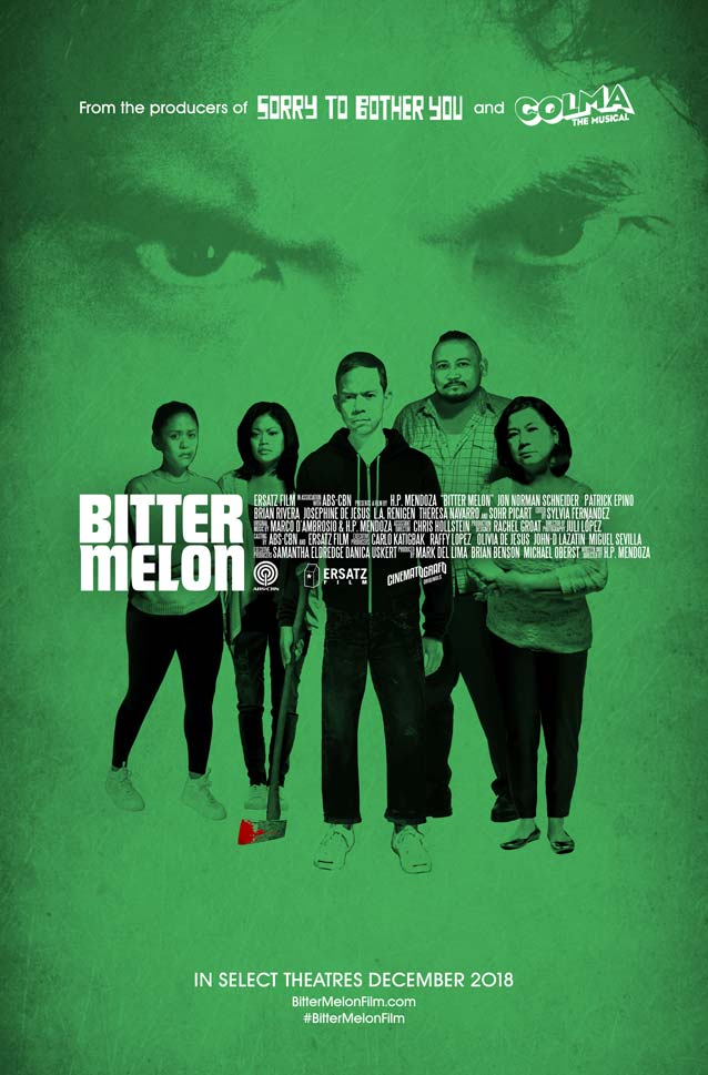 H.P. Mendoza's theatrical one-sheet for Bitter Melon