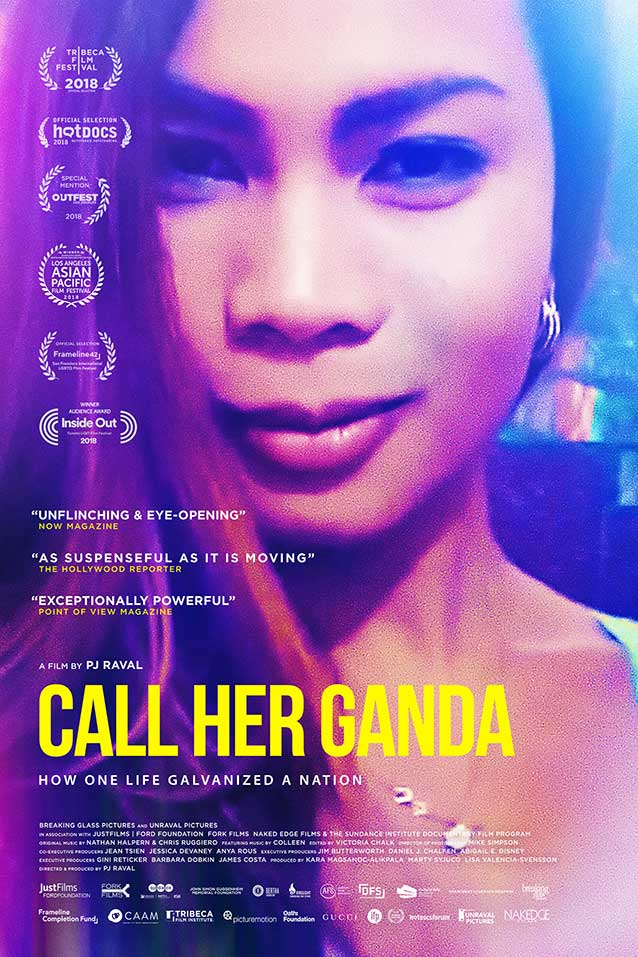 Main theatrical one-sheet for Call Her Ganda