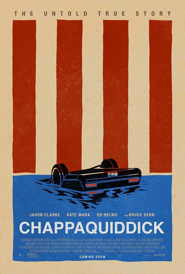 Bond's minimal poster for Chappaquiddick