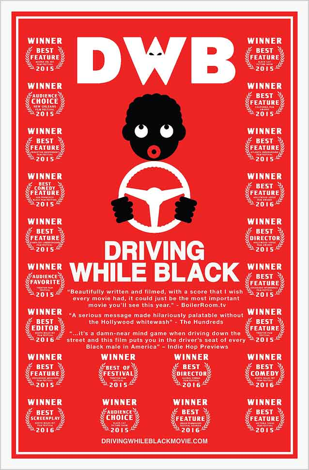 Festival poster for Driving While Black