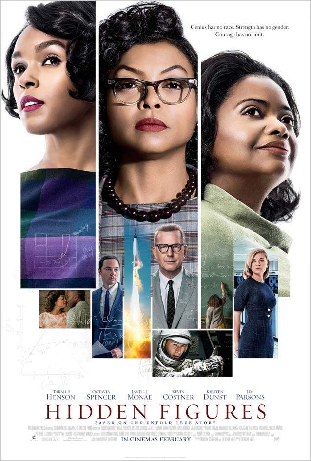 Film poster designed by Ignition for Hidden Figures