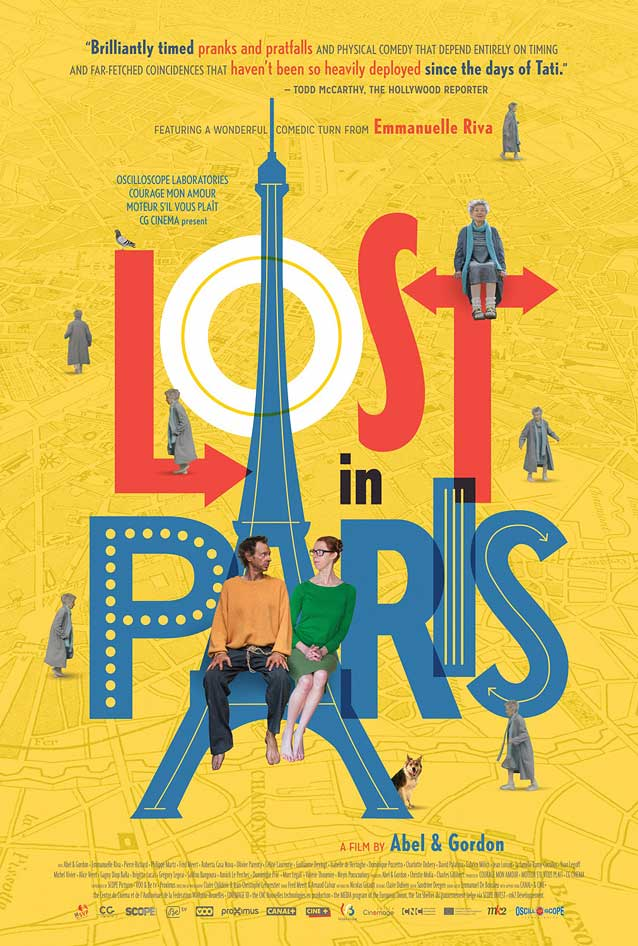 Poster for Paris pieds nus (Lost in Paris)