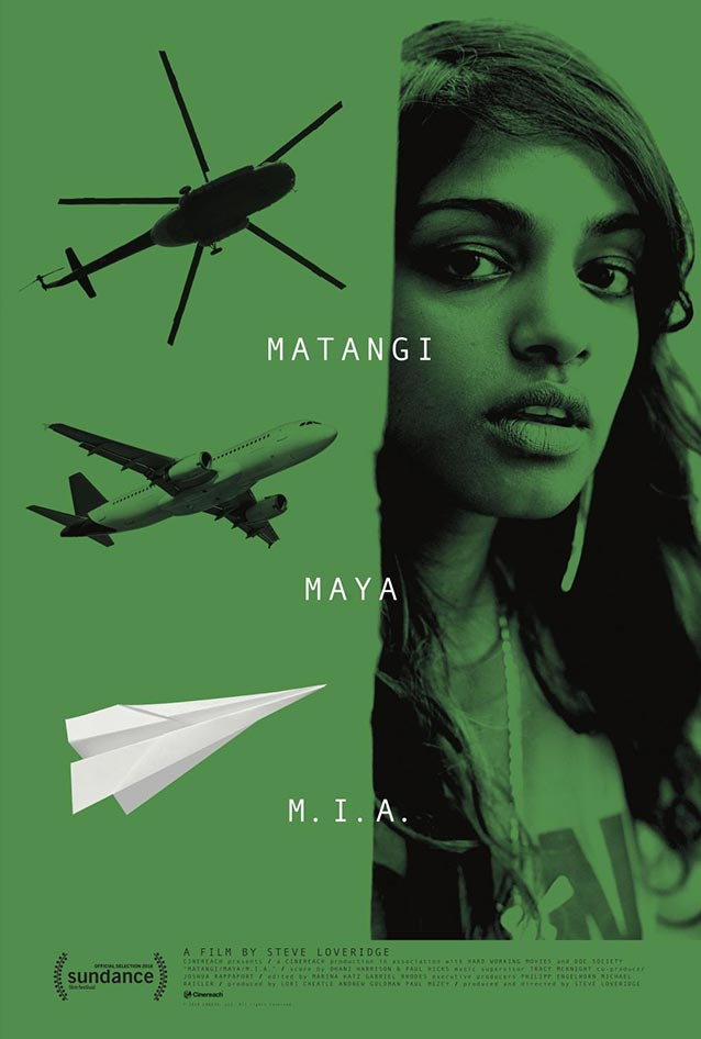 Theatrical one-sheet for Matangi/Maya/M.I.A.