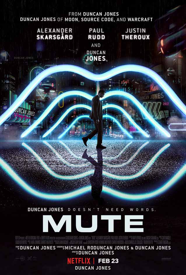Main theatrical poster for Mute