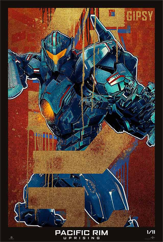 LA's Gipsy Avenger character poster for Pacific Rim: Uprising