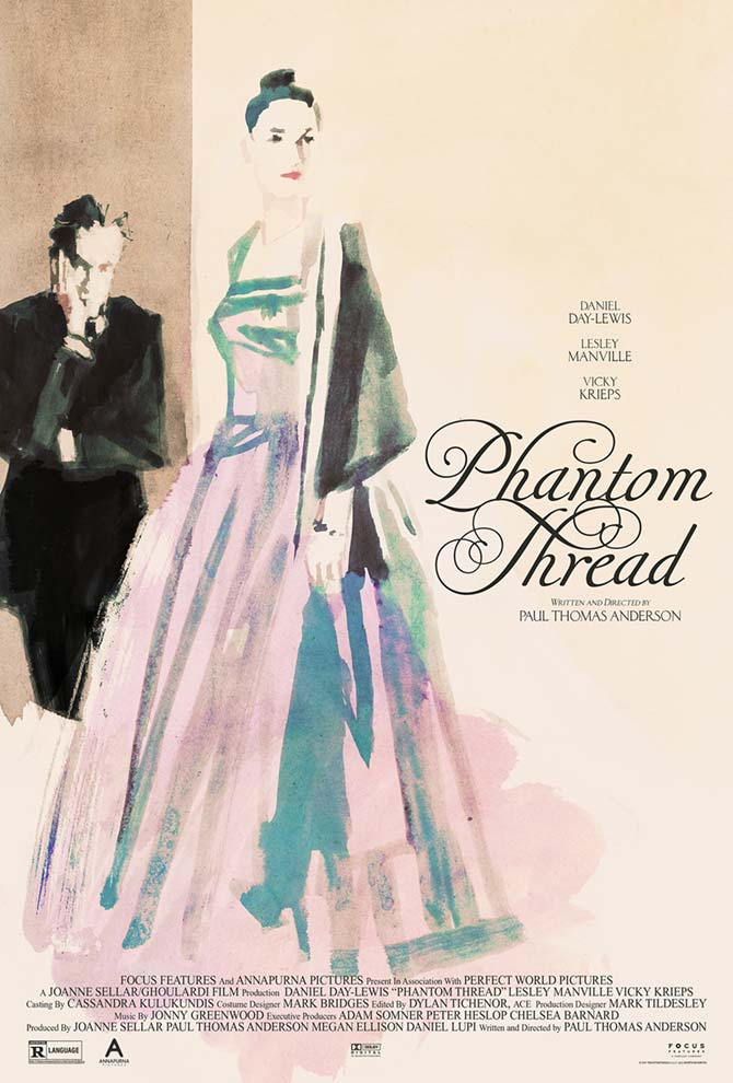 Midnight Marauder's alternate poster for Phantom Thread with painted art by Tony Stella