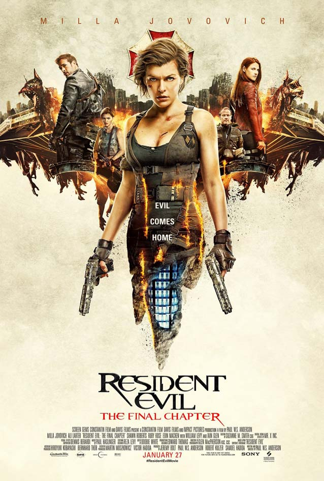 Film poster for Resident Evil: The Final Chapter