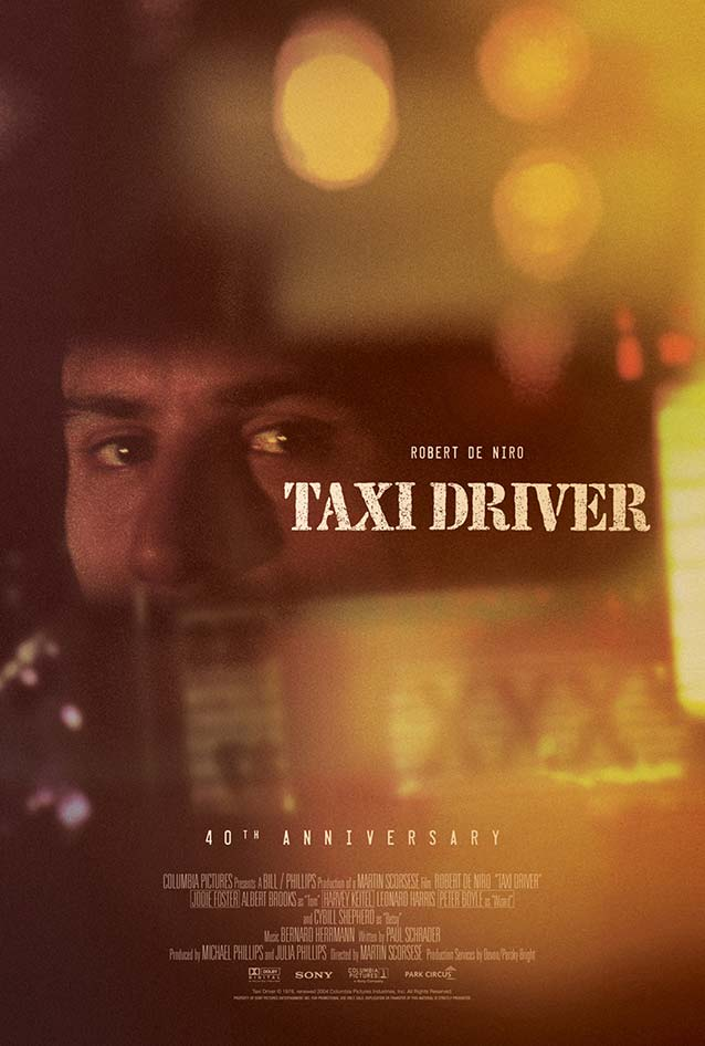 40th Anniversary poster for Taxi Driver