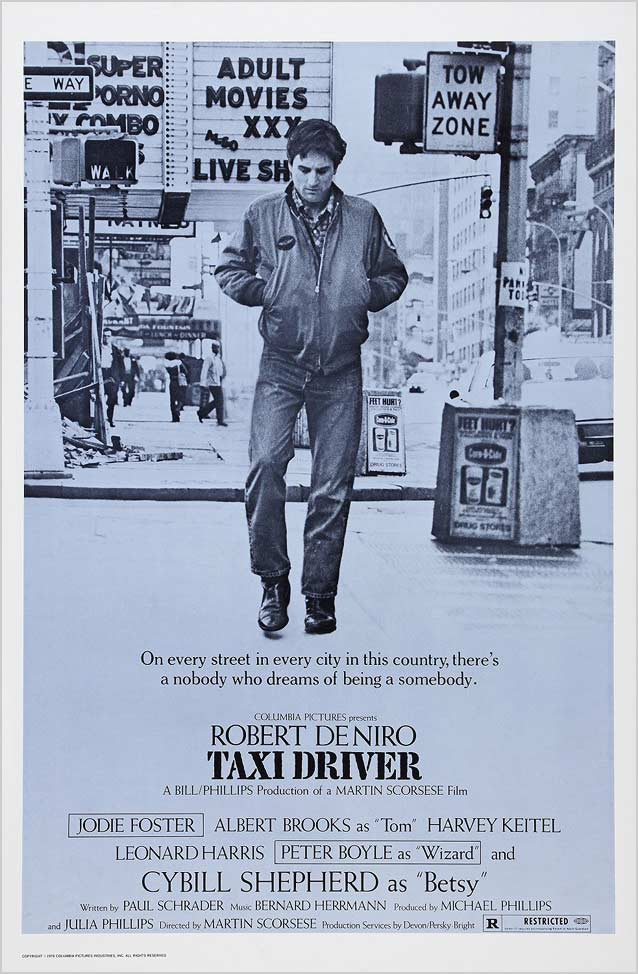 Original theatrical one-sheet for Taxi Driver