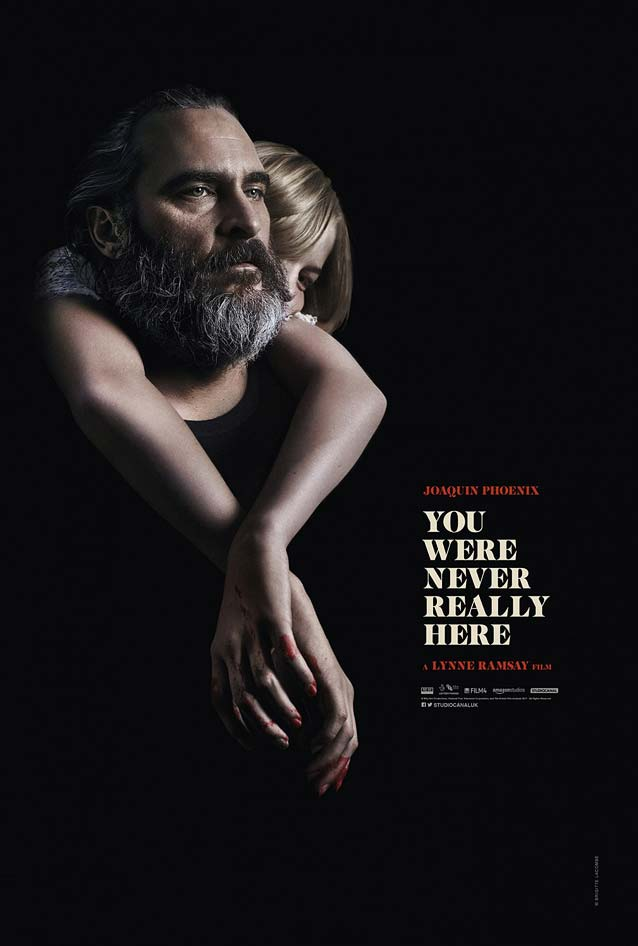 Empire Design's theatrical one-sheet for You Were Never Really Here